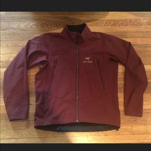 Arcteryx Men's Softshell Jacket Size Large Red